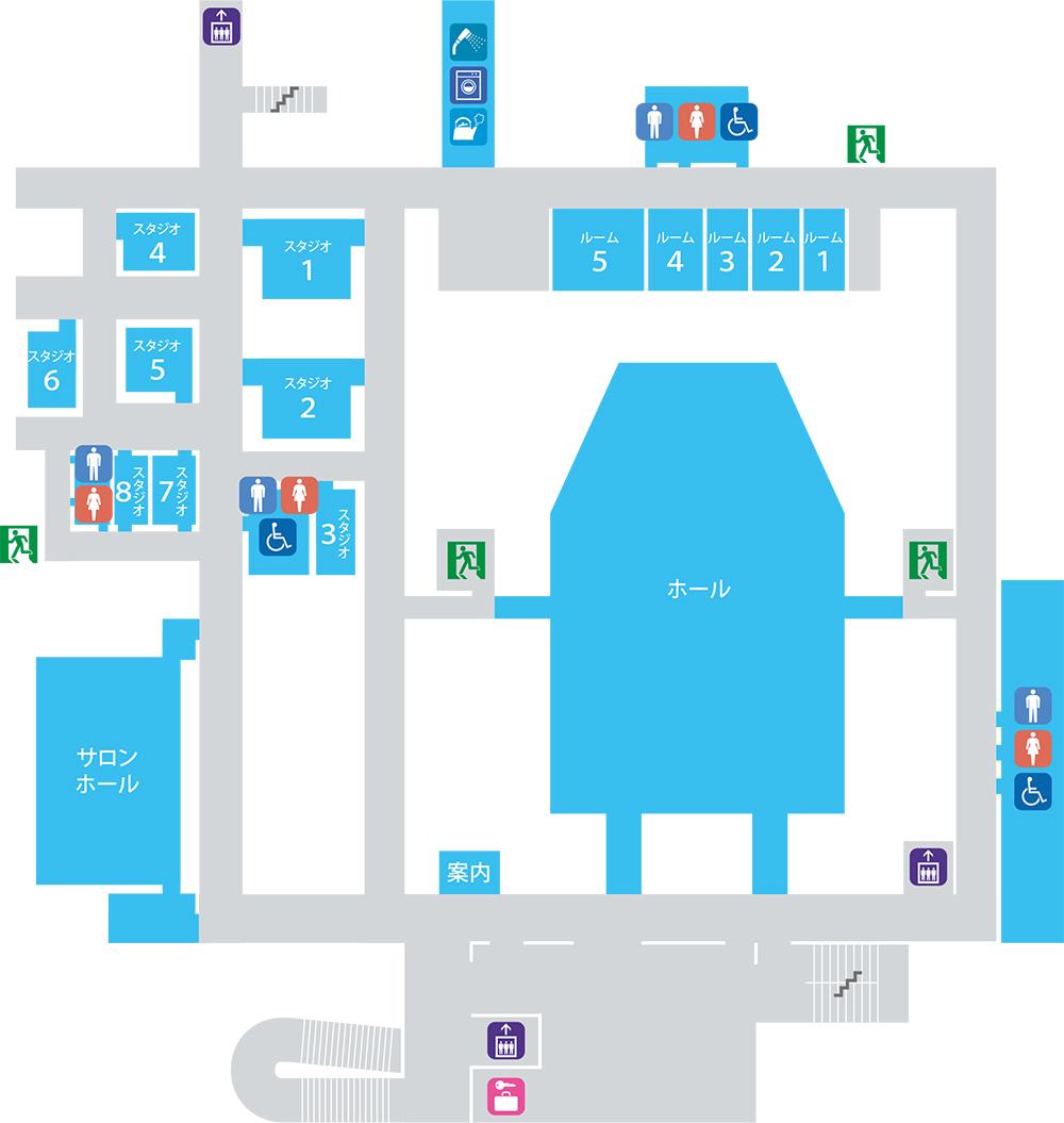 フロアマップ2階 画像
